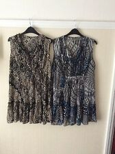 2 x Tunic Dresses .. size 14/16 .. Excellent Condition