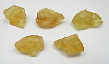 173 Ct Natural Untreated Yellow Citrine Loose Gemstone Rough Lot 5 Pcs