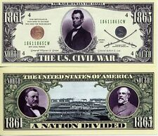 US Civil War Million Dollar Bill Collectible Funny Money Novelty Note