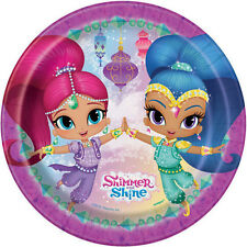 SHIMMER AND SHINE SMALL PAPER PLATES (8) ~ Birthday Party Supplies Dessert Cake