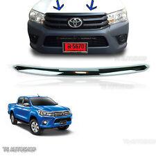 15 16 17 Chrome Line Front Upper Grille Bonnet For Toyota Hilux Revo SR5 UTE