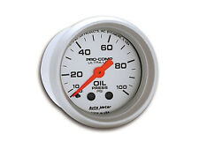 "Auto Meter Ultra-Lite Mechanical Oil Pressure Gauge 2-1/16"" (52mm) 0-100 Psi"