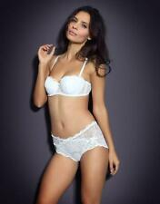 AGENT PROVOCATEUR LOVE BRA AND FULL BRIEF SET WHITE 34E LARGE / 4 / 12-14 BNWT