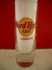 HRC Hard Rock Cafe London Classic Logo Red Letter Shot Glass Schnapsglas New