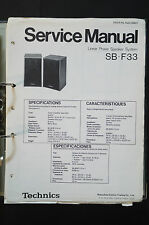 TECHNICS sb-f33 ORIGINALE SPEAKER Service-Manual/Service-manuale/schema elettrico TOP!