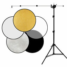 """Photo Studio 32"""" 80cm 5in1 Collapsible Light Reflector Stand Arm Photography Kit"""