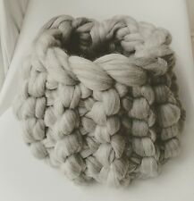 Baby Pod Grey Wool Basket Newborn Baby Posing Photography Prop