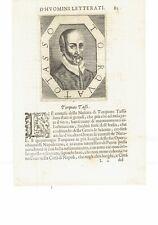 1666 Crasso Ritratto: Torquato Tasso (Sorrento 1544–Roma 1595) Poeta Scrittore