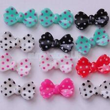 Pack of 20pcs Nail Art Decora Accessories Beads Stickers Decal Bowknot Design