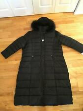 DKNY Black Faux Fur-Lined Hood Down/Feather Water Repellent Puffer Coat 3X