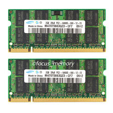 New Samsung 4GB 2X2GB PC2-6400 DDR2-800 800Mhz DDR2 200pin Sodimm Laptop Memory
