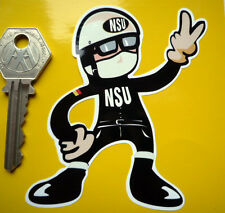 NSU Pudding Basin Helmet Rider 2 fingered salute STICKER SuperMax Fox Quickly