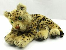 "Vintage STEIFF Leopard Cheetah 14"" Mohair Plush Animal"