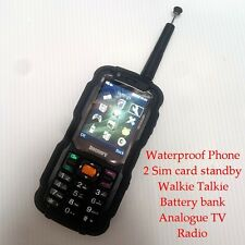 IP67 Dust Water Proof GSM WALKIE TALKIE Dual Sim Radio TV Mobile Cell Phone