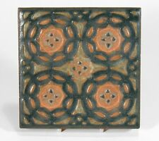 Rookwood Pottery architecural tile geomertic circles design matte arts & crafts