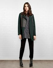 Soia & Kyo Enya Wool Motorcycle Coat in Forest - Size M - $460