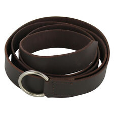 Steel Ring Simple Medieval Leather Costume Re-enactment Belt
