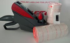 METO 6.22 PRICE LABELING GUN, FREE  BOX FLURO RED LABELS, FREE INK ROLLER