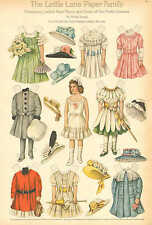 Paper Doll, Lettie Lane Paper Family by Sheila Young, Vintage 1909 Antique Print