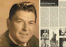 COUPURE de presse PHOTO CLIPPING  RONALD REAGAN  ( Reportage 4 pages)
