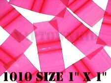 "500 Red Plastic Ziplock Coin Parts Baggies 1"" X 1"" Size 1010 Ziploc Closure"