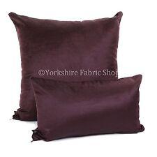 New Designer Silk Shine Velvet Chenille Fabric Handmade Cushion Cover & Filling