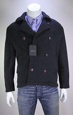 NWT New * KITON * $10,000 Gray 100% Cashmere Slim 3-Btn DB Knit Peacoat 38/Small