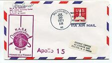 1971 NASA Communications Network Apollo 15 Honolulu McDowell Space Cover SIGNED