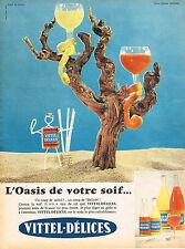 PUBLICITE ADVERTISING 124  1959   VITTEL- DELICES  soda 2