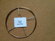 0.2mm x 30m 36 SWG Brass Wire Jewellery Beading Craft Models Art Railway