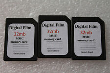 3pcs 32MB Generic MMC Multimedia Memory Card for PALM PDA Older sd cameras