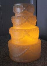 3pcs~WEDDING CAKE SHAPED~LED FLAMELESS CANDLES~NEW