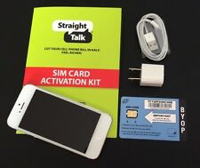 Apple iPhone 5 16GB (Straight Talk - AT&T) White & Silver Smartphone Bundle (A)