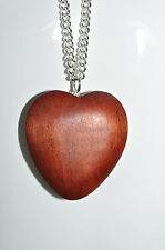 JULES SMITH 925 Silver Plated Wood Charm Large Natures Heart Necklace $75 NEW