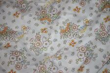Cabbage Patch Kid Vtg Twin Flat Sheet CPK Bunny Kite Craft Fabric Easter