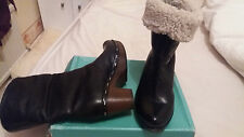 CLARKS SOFTWEAR BLACK  ANKLE BOOTS CLOG STYLE WORN A COUPLE OF TIMES SIZE  5