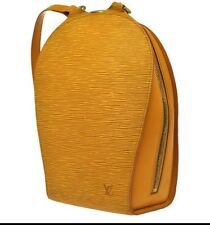 Authentic Louis Vuitton Mabillon Epi Leather Backpack Tassil Yellow