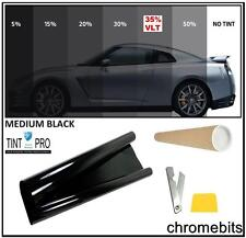 PROFESSIONAL ANTI-SCRATCH CAR WINDOW TINT FILM MEDIUM BLACK SMOKE 35% 76cm x 3M