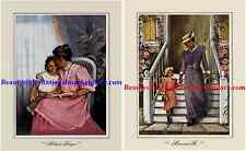 "2 African American Art Prints ""MOTHER'S PRAYER"" & ""MOM AND ME"""