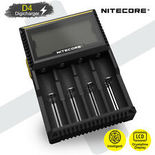 Nitecore D4 V2 LCD Intelligent Li-ion Ni-MH Battery Charger AA AAA 18650 26650