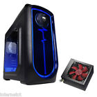 AvP PULSE BLUE mATX ITX MINI TOWER CASE - 500W SATA PSU - USB 3 INC SIDE WINDOW