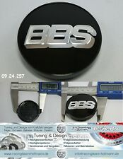 BBS Felgendeckel Embleme center caps schwarz / chrom 56 mm 09.24.257