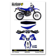 2000-2012 YAMAHA TTR 250 Graphics Kit  Seat Cover Motocross Graphics Enjoy