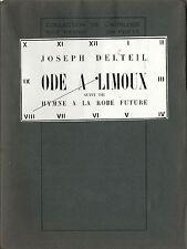 EO N° JOSEPH DELTEIL + CP DÉDICACÉE:  ODE À LIMOUX - HYMNE À LA ROBE FUTURE