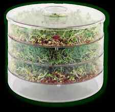 1 x NEW EASY SEED SPROUTER SEEDLING PRODUCER GERMINATION 3 LEVEL PANS,FREE SEEDS