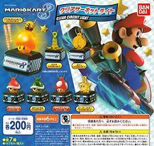 Mario Kart 8 Clear Circuit Light 7 Pics Set Capsule Toys Gashapon From Japan