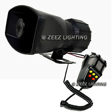 100W Loud Car Warning Alarm Police Fire Siren Horn Speaker MIC Upgraded System