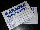 100 Karaoke request slips - Blue - FREE POSTAGE