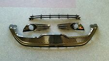 FORD FIESTA ST180 MK7.5 GLOSS BLACK GRILLE SET - GRILLS - FOG SURROUNDS NEW
