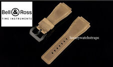 HANDMADE  MILITARY BLACK PVD BUCKLE WATCH STRAP FOR BELL AND ROSS BR01